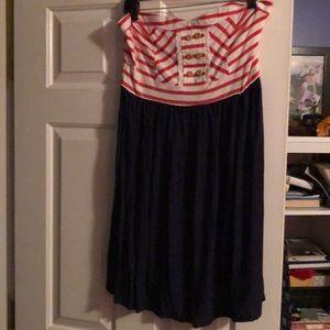Xhilaration size large strapless summer dress